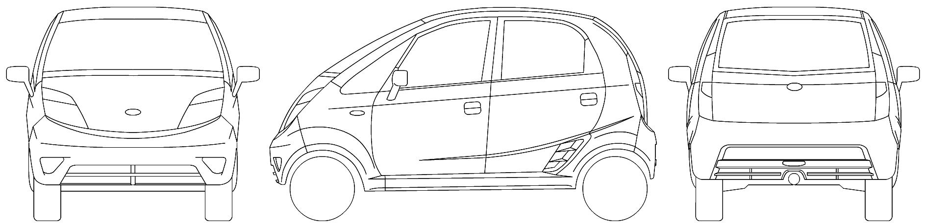 Tata Nano blueprints