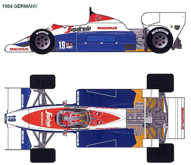 Toleman TG184 Hart German GP F1 blueprints