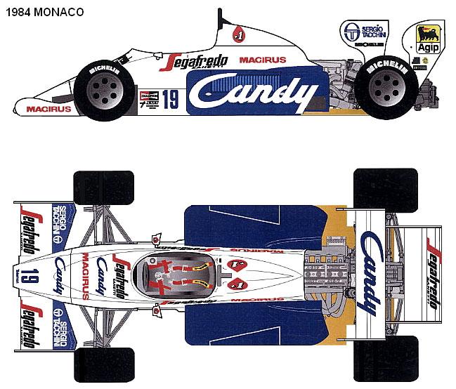 Toleman TG184 Hart Monaco GP F1 blueprints
