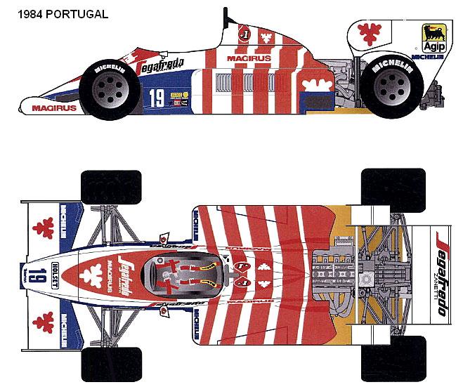 Toleman TG184 Hart Portugal GP F1 blueprints