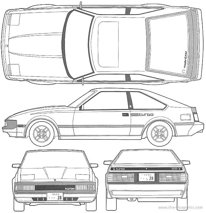 1983 toyota celica a60 xx turbo coupe v2 blueprints free