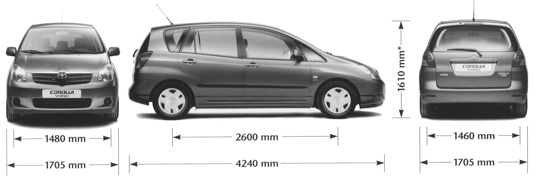 Toyota Corolla Verso Blueprints