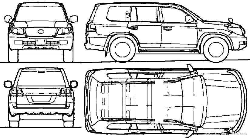 2010 toyota land cruiser suv blueprints free