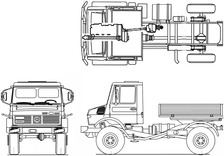 Unimog 1650 blueprints