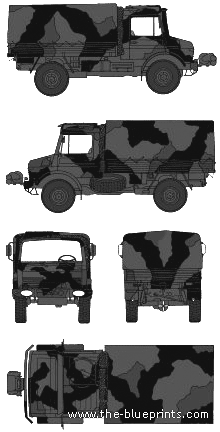Unimog 2T GL blueprints