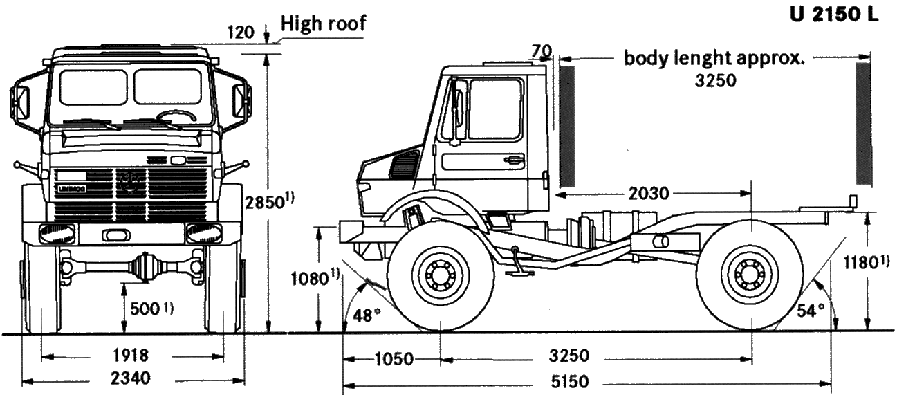 Unimog U2150 L blueprints