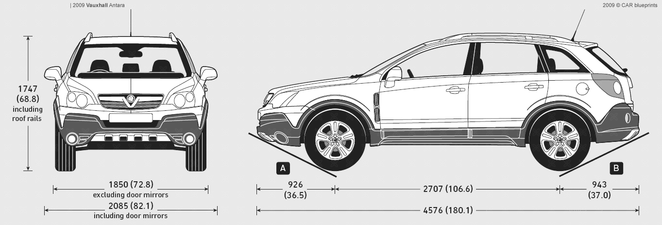 Vauxhall Antara blueprints