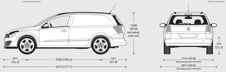 Vauxhall Astravan blueprints