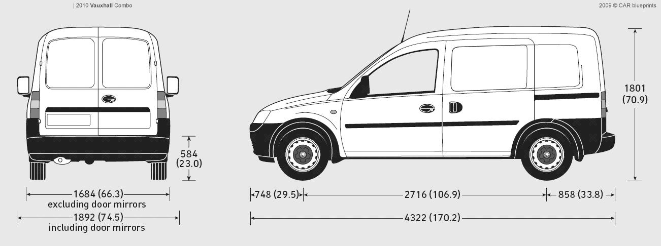 Vauxhall Combo blueprints