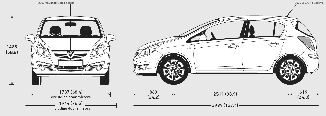 2009 vauxhall corsa 5 door hatchback blueprints free outlines vauxhall corsa 5 door blueprints malvernweather Choice Image