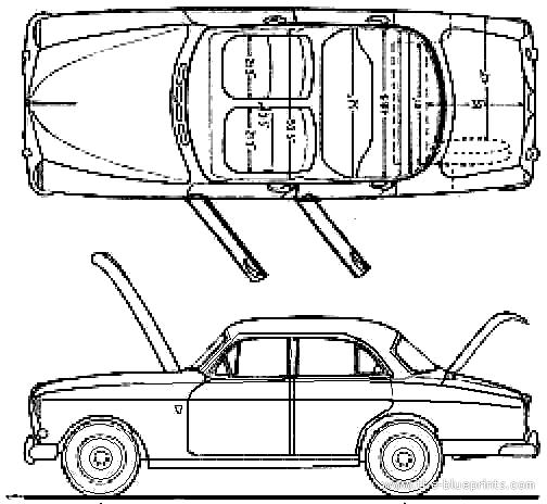 1962 Volvo 122 Amazon Sedan Blueprints Free