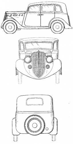 1935 Willys Overland 4 Door Sedan Blueprints Free