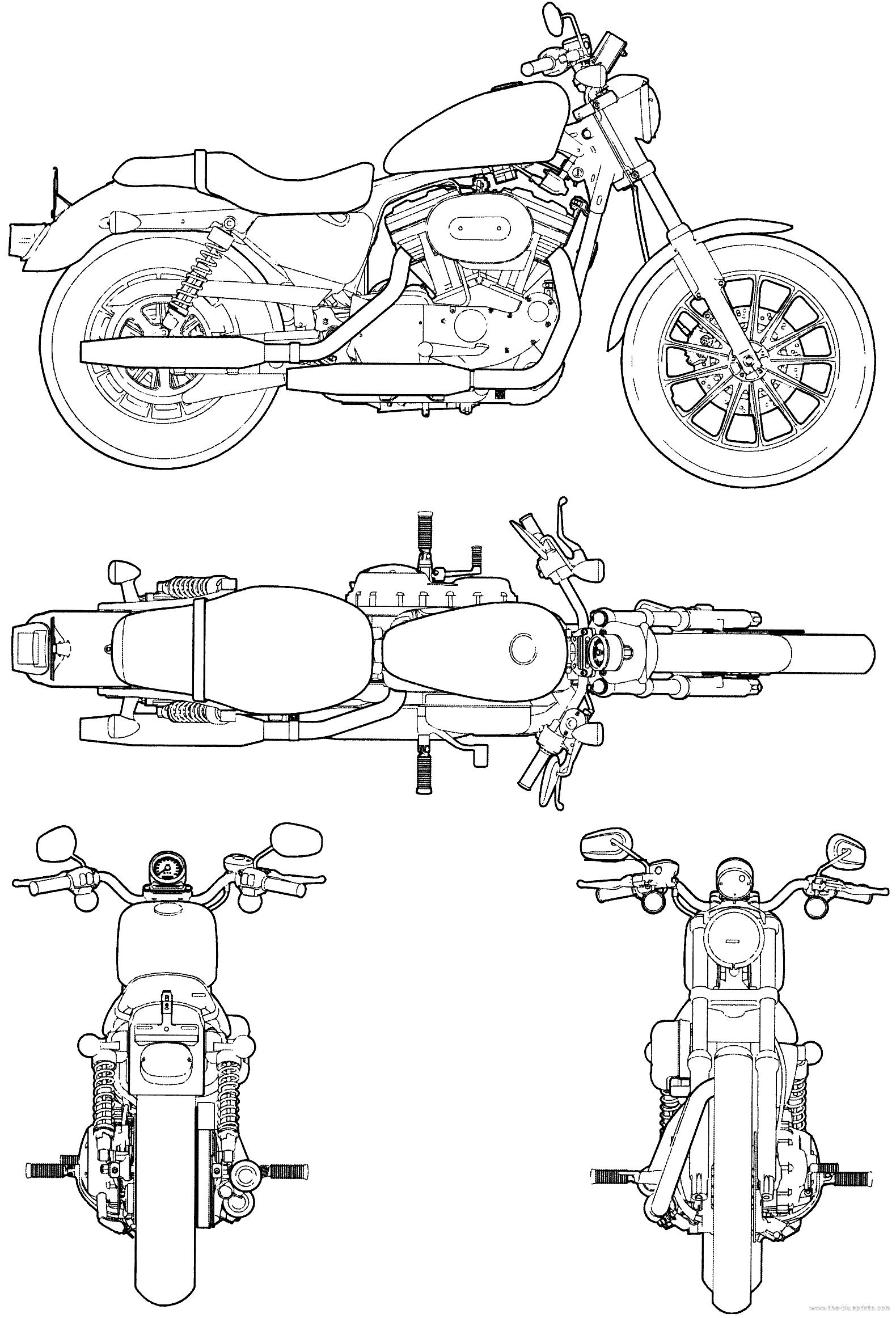 harley-davidson xlh 53c blueprints free