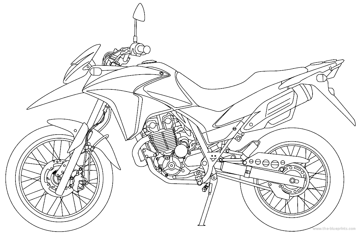 outline drawings of honda motorcycles