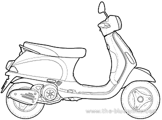 Vespa LX125 blueprints