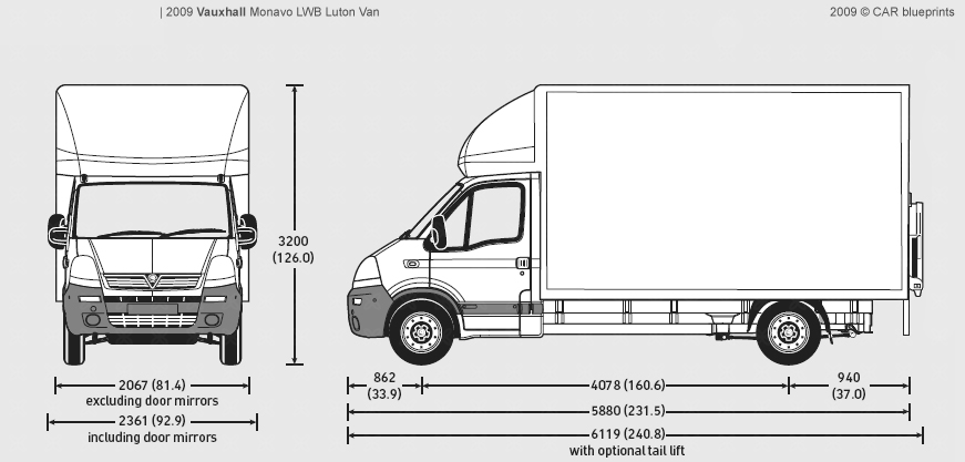 2009 vauxhall movano lwb luton van blueprints free outlines vauxhall movano lwb luton blueprints malvernweather Images