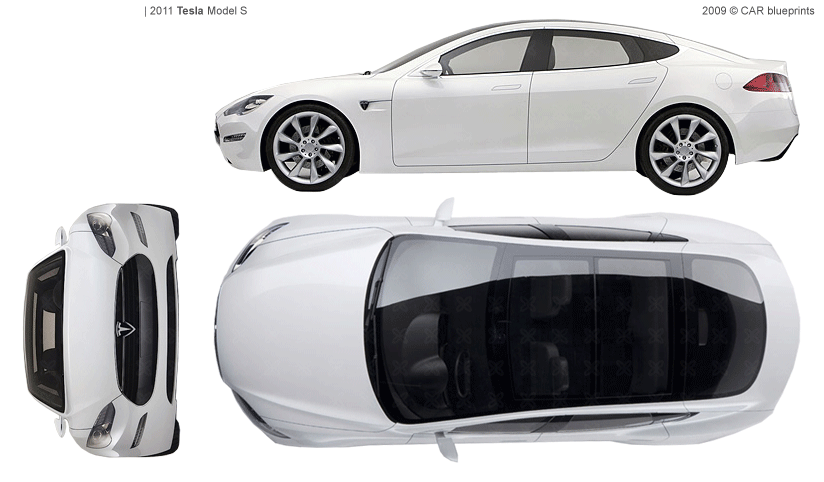 2011 tesla model s sedan blueprints free outlines tesla model s blueprints malvernweather Image collections