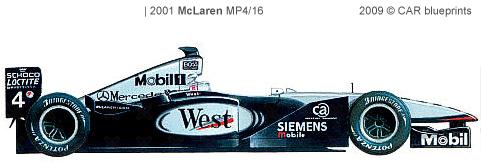 2001 mclaren mp4/16 f1 formula blueprints free - outlines