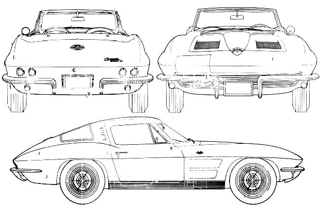 1963 chevrolet corvette coupe blueprints free outlines chevrolet corvette blueprints malvernweather Gallery