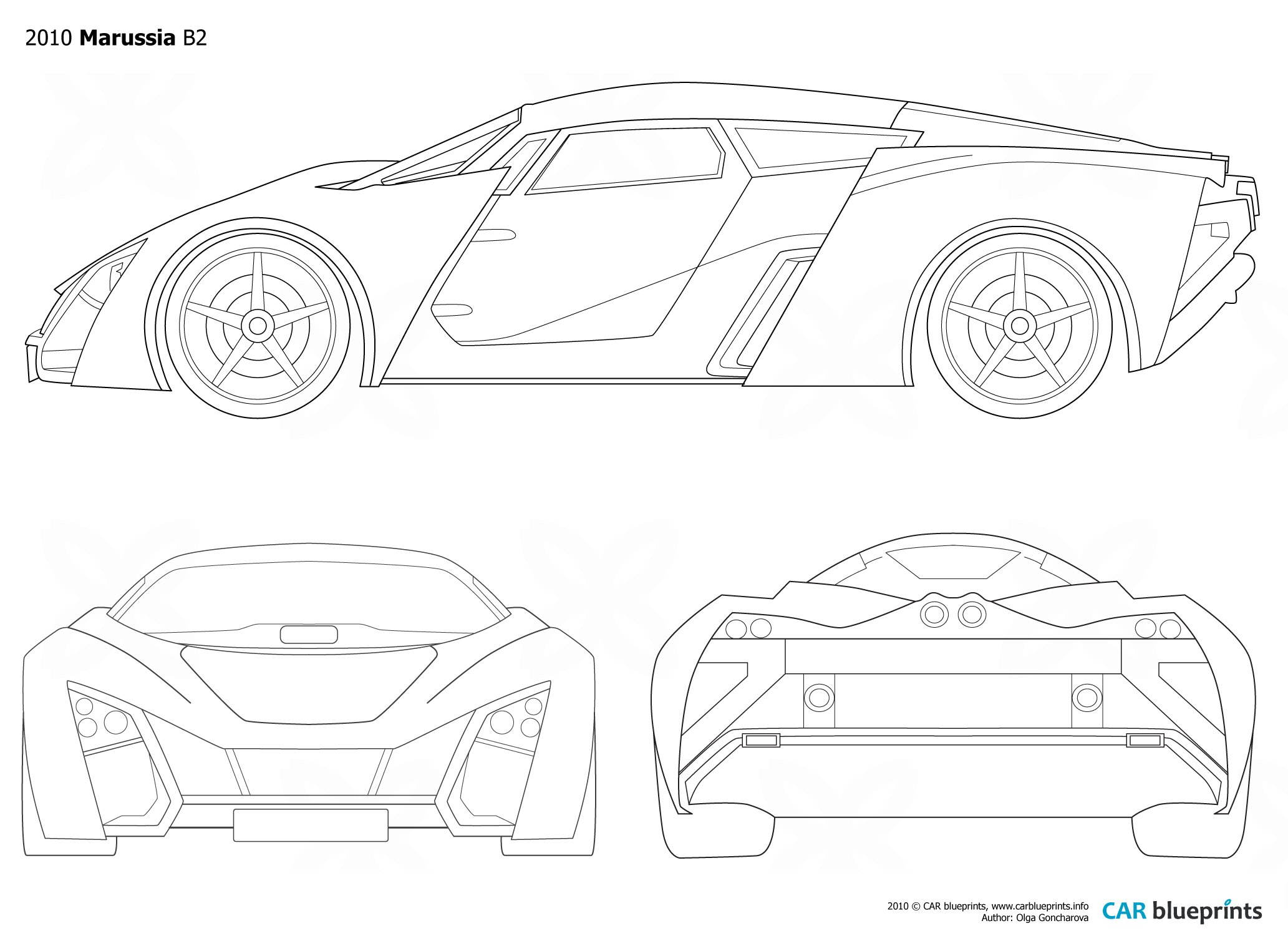 2010 marussia b2 coupe blueprints free outlines download or request vector blueprint malvernweather Image collections