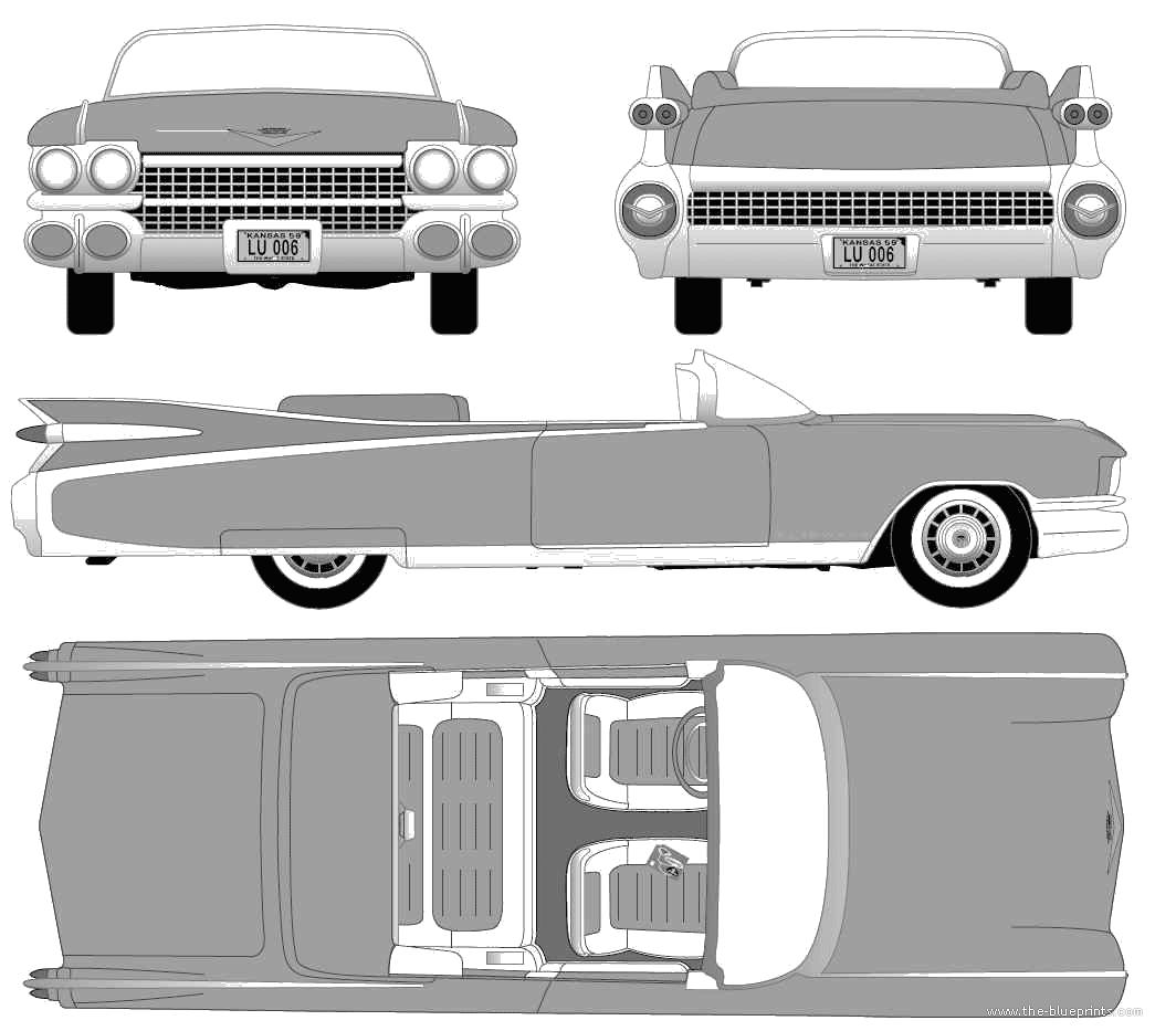 1959 Cadillac Eldorado Biarritz Convertible Cabriolet blueprints ...