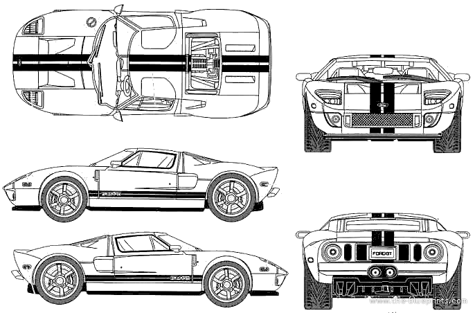 Ford Gt Blueprints