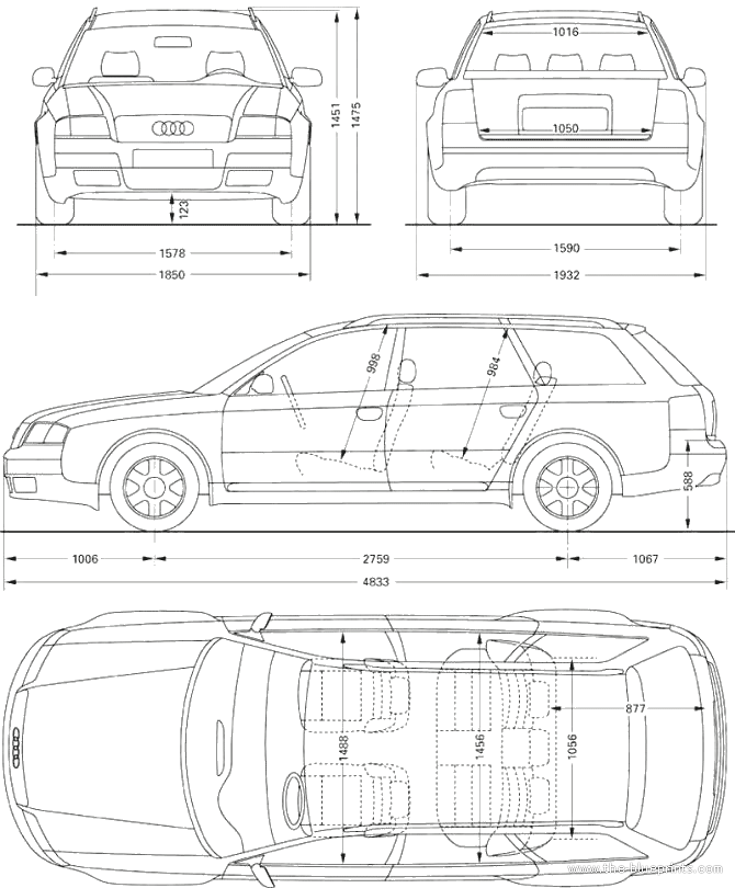 1998 audi a6 avant wagon blueprints free outlines audi a6 avant blueprints malvernweather Images