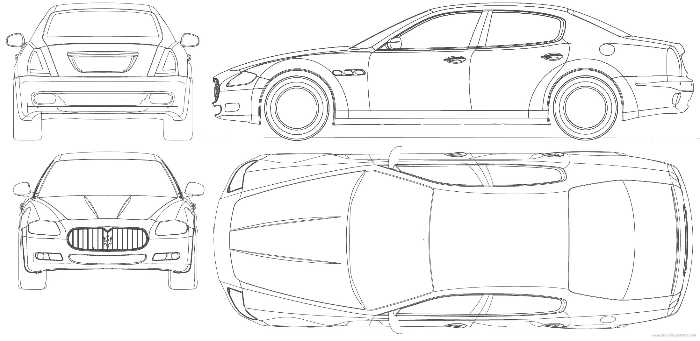 2010 maserati quattroporte sedan blueprints free outlines download or request vector blueprint malvernweather Images