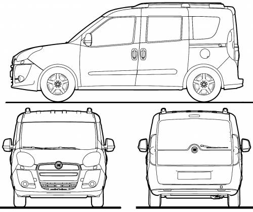 2011 fiat doblo minivan blueprints free outlines fiat doblo blueprints malvernweather
