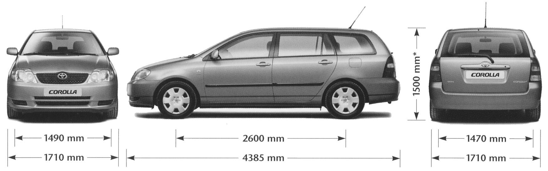 2001 toyota corolla wagon blueprints free outlines rh getoutlines com Toyota Yaris Toyota Yaris