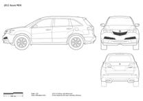 Acura MDX blueprint