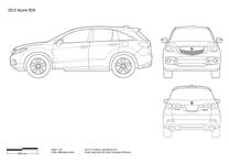 Acura RDX blueprint