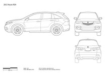 2013 Acura RDX SUV blueprint