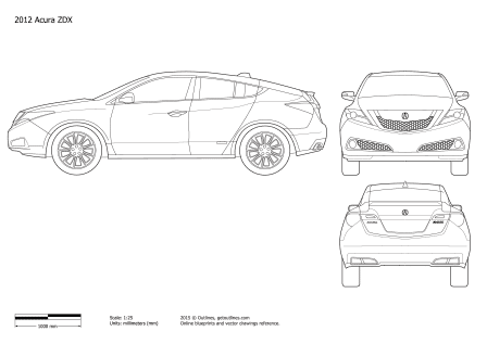 Acura ZDX drawings