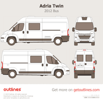 2012 Adria Twin Bus blueprint