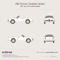 1961 Alfa Romeo Giulietta Spider Typo 750 Facelift Roadster blueprint
