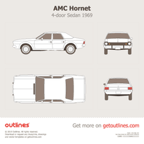 1969 AMC Hornet 4-door Sedan blueprint