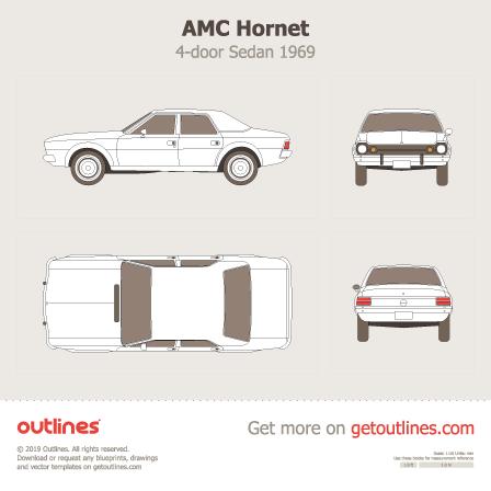 1969 AMC Hornet 4-door Sedan blueprint