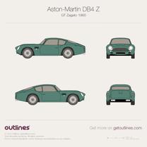 1960 Aston Martin DB4 GT Zagato Coupe blueprint