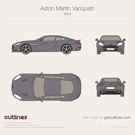 2012 Aston Martin Vanquish II Coupe blueprint