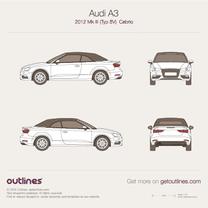 2012 Audi A3 Typ 8V Cabriolet blueprint