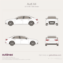 2015 Audi A4 B9 Sedan blueprint