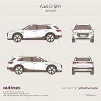 2018 Audi E-Tron SUV blueprint