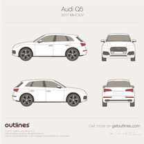 2017 Audi Q5 Typ 80A SUV blueprint