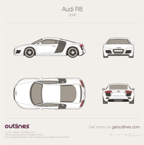 2007 Audi R8 Typ 42 Coupe blueprint