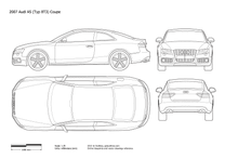 2007 Audi A5 Typ 8T3 Coupe blueprint