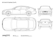 2011 Audi A5 Typ 8TA Sportback  Facelift Hatchback blueprint