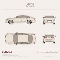 2011 Audi A6 C7 Sedan blueprint