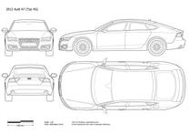 2010 Audi A7 4G8 Sportback Hatchback blueprint