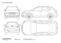 2011 Audi Q3 Typ 8U Hatchback blueprint